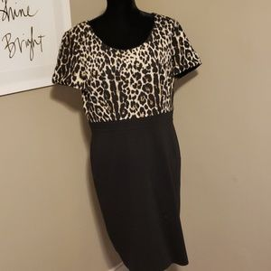 Tahari leopard dress